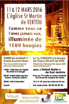 77, illuminations, concert, soirée, affiche paroisse