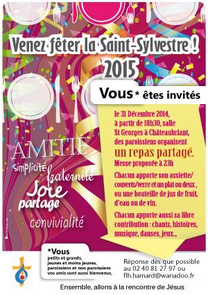 39, St-Sylvertre_violet, affiche saint sylvestre, affiche réveillon, repas reveillon, diner st sylvestre