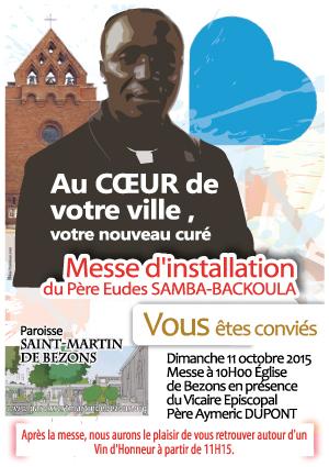 65, Messe-d'installation, nouveau prêtre, affiche paroissiale,
