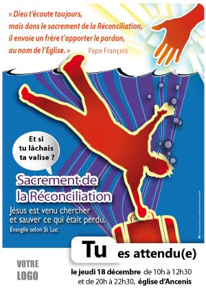 12, réconciliation jeunes, misericorde, affiche paroissiale, sacrement reconciliation