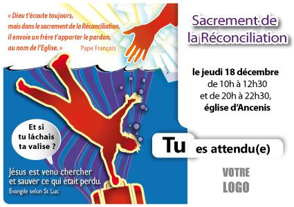 12, réconciliation jeunes, misericorde, affiche paroissiale, invitation sacrement reconciliation