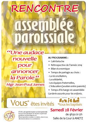 47, assemblée paroissiale, affiche paroisse, rencontre paroissiens,