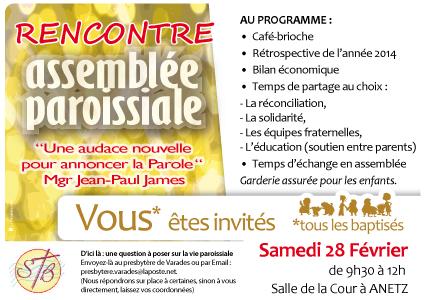 47, assemblée paroissiale, affiche paroisse, invitation paroissien, rencontre paroissiens,