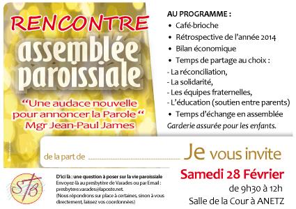 47, assemblée paroissiale, affiche paroisse, invitation, rencontre paroissiens,