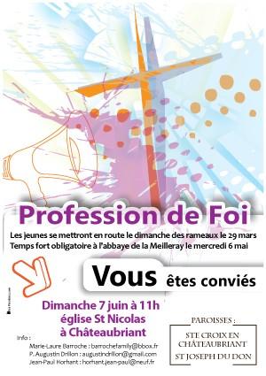 Profession-de-Foi, affiche paroisse,