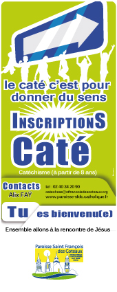 Inscription-cate, affiche inscription caté,