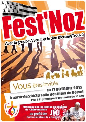 Fest'Noz, affiche paroisse,