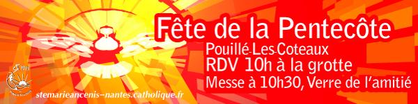 80, affiche paroissiale, banderole, fete de la pentecote, don de l'Esprit Saint,célébration de la Pentecôte, cinquantième jour après Pâques