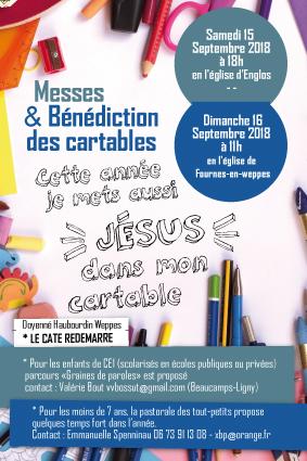 affiche bénédiction cartables