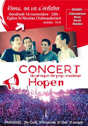 affiche concert hopen